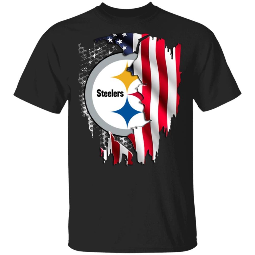 American Flag Pittsburgh Steelers Fans Unisex TShirt