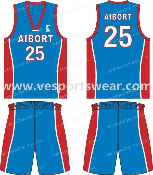Blue And Red Pattern Basketball Kits Styles Basketball Kit Basketball Design Gaming Clothes