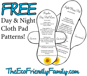 free pattern for reusable sanitary pads