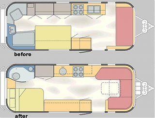 Lookin For 1963 22 Safari Floorplan Model Airstream Forums Airstream Remodel Floor Plans Airstream