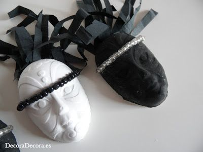 Máscaras para decoración de Carnaval.