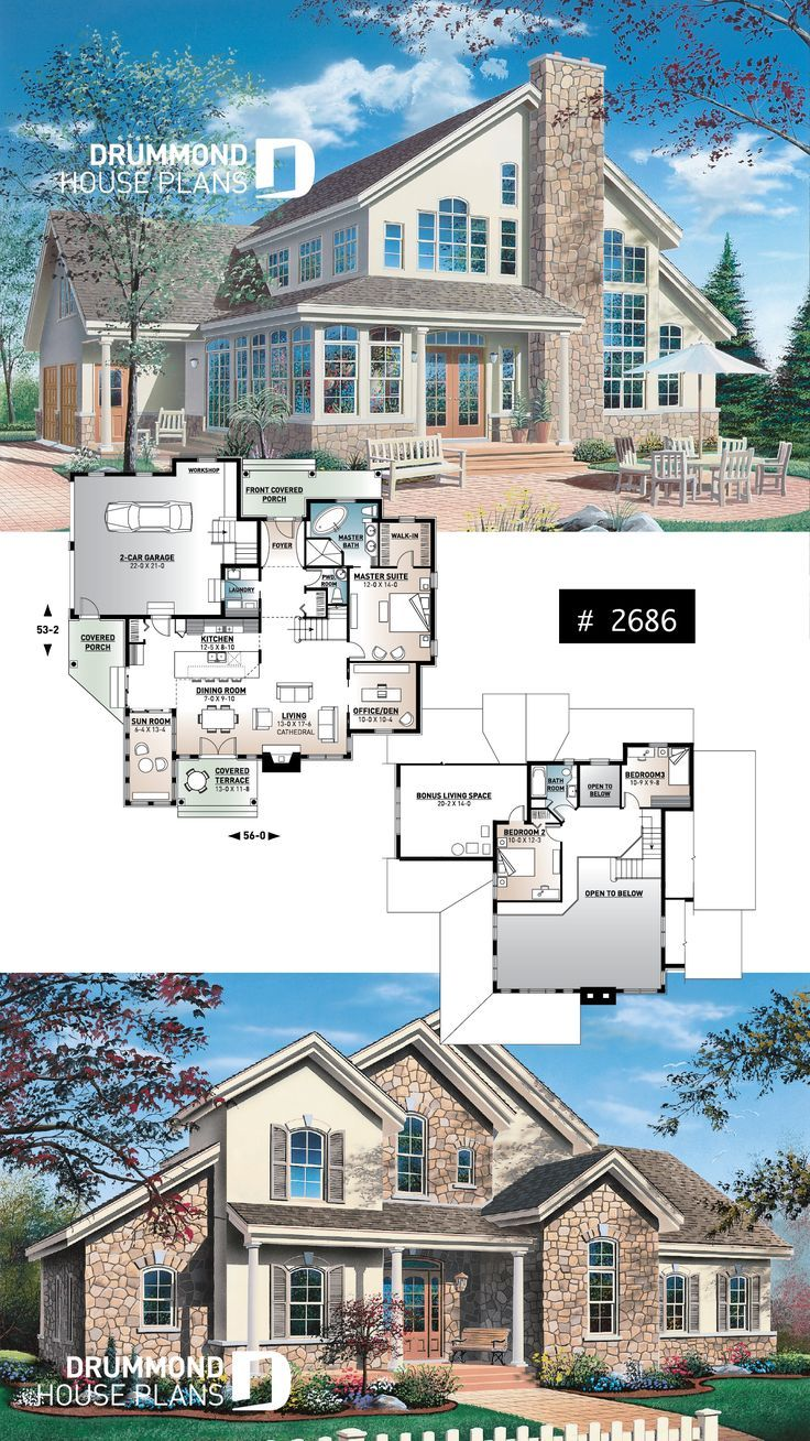 Discover the plan 2686 The Wakefield 2 which will please you for its 3 4 bedrooms and for its Country styles