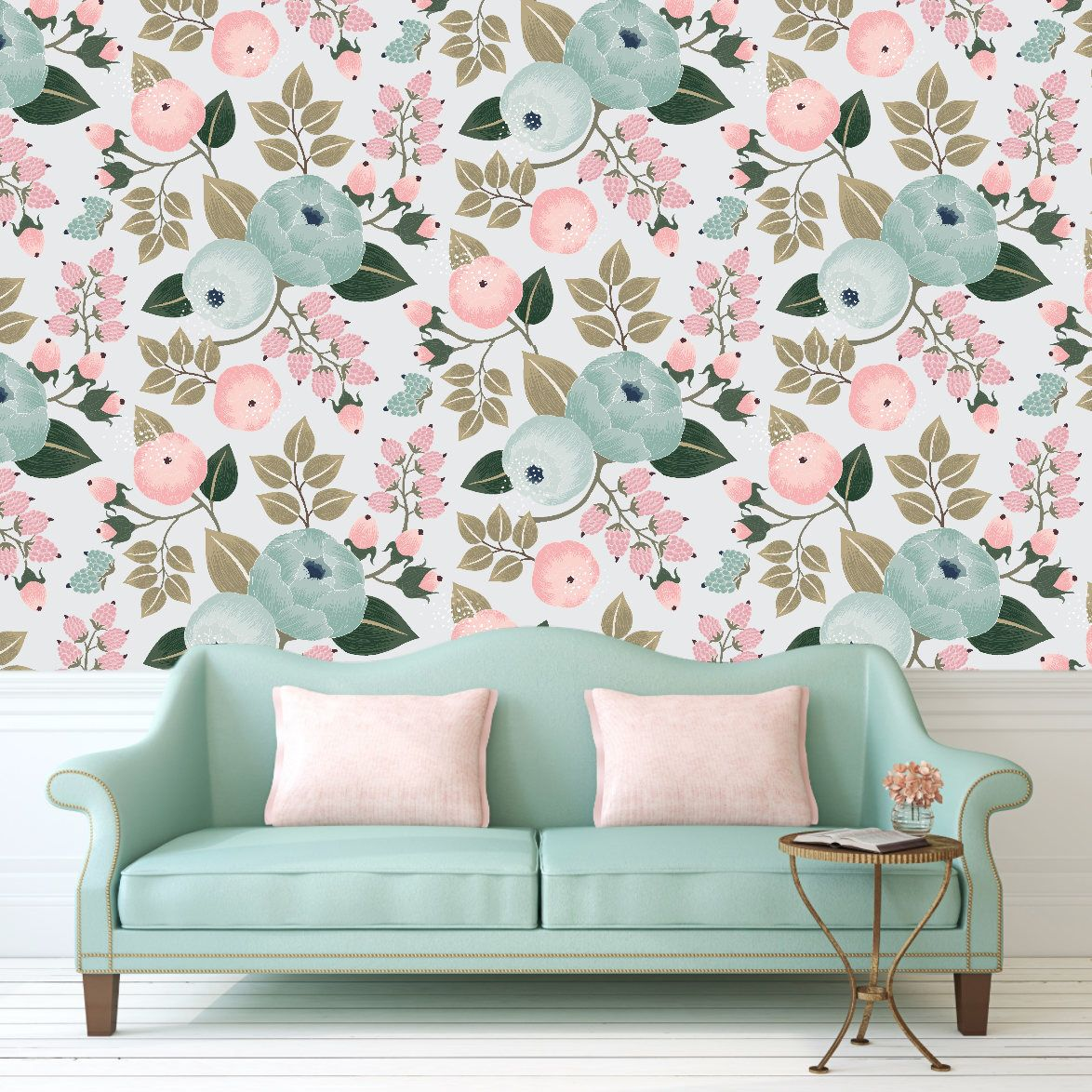 Pin By Constance Perkins On New Beginnings Removable Wallpaper Peelable Wallpaper Baby Girl Wallpaper