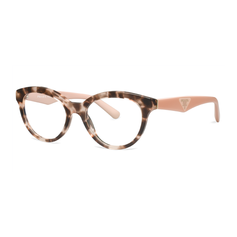 These Prada frames has these defined pink temples, giving a soft yet ...