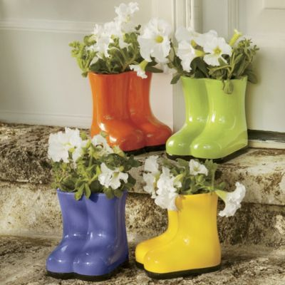 Garden Boot Planter 11 99 Ni42124 Countrydoor Com Glazed