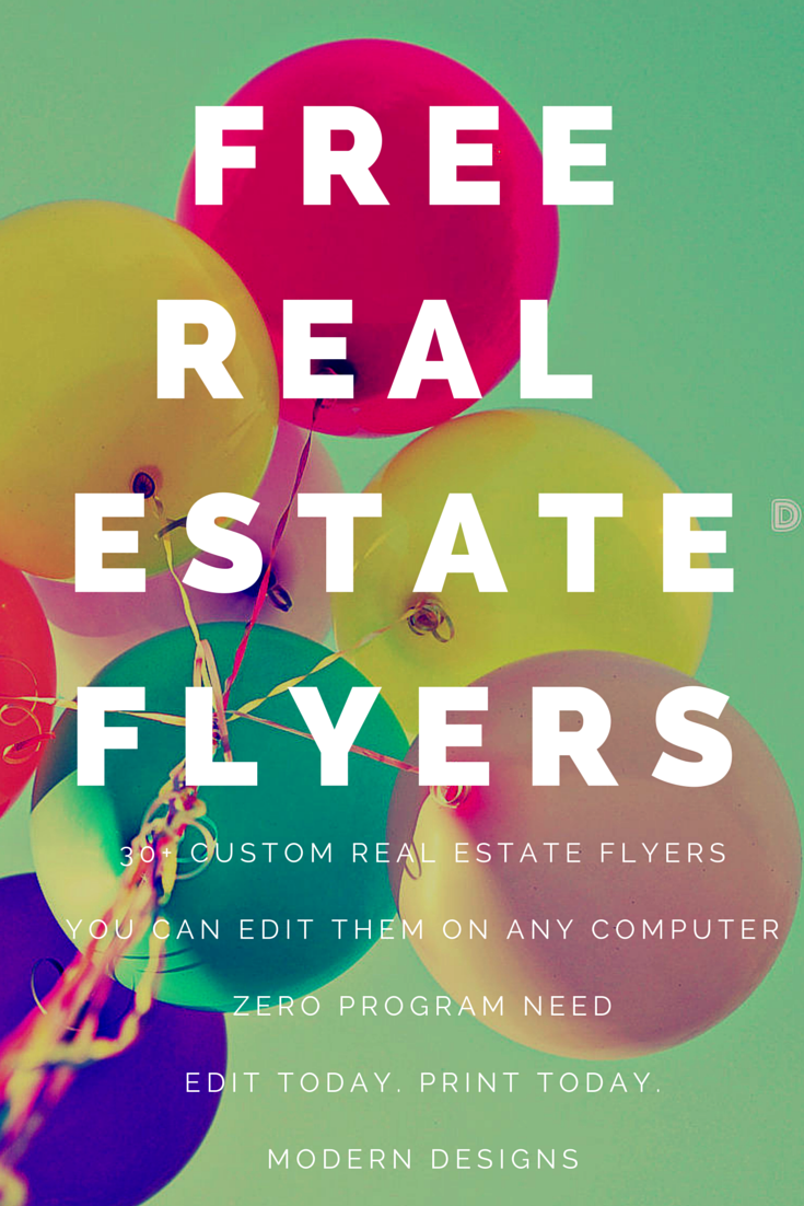 Free Real Estate Flyers Over 30 Templates For You To Choose From
