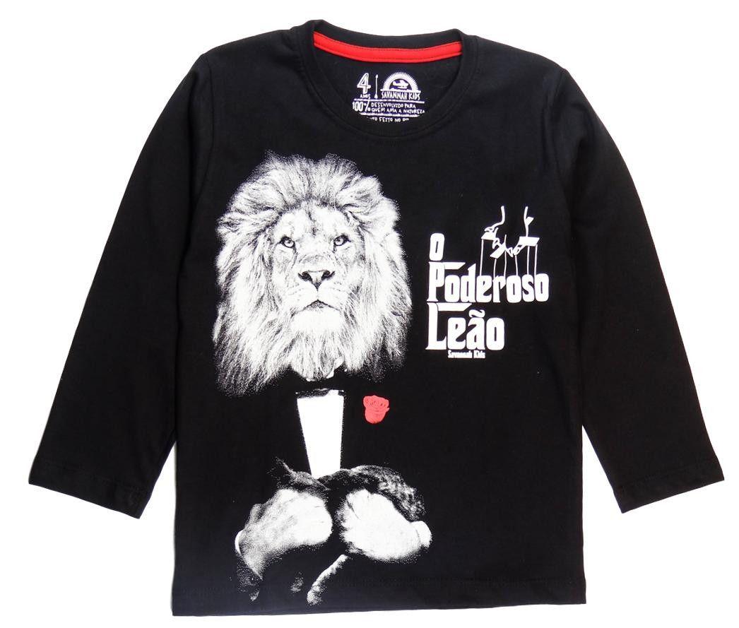 9050bae79076f Camiseta Infantil Poderoso Leão ML - Savannah Kids