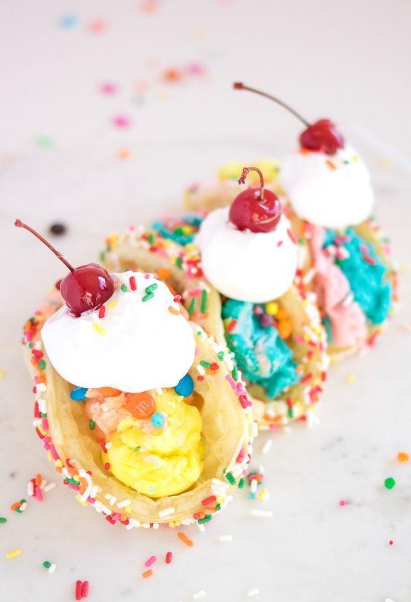 dessert tacos, yum! #icecream #dessert | sweet tooth | pinterest