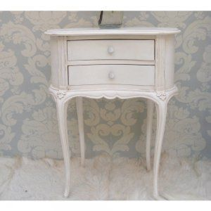 Provencal Kidney White Bedside Table