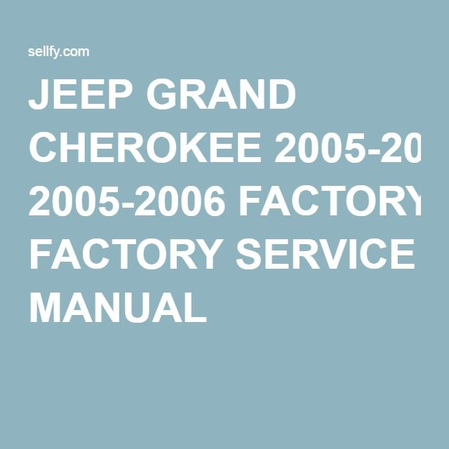 2005 jeep grand cherokee service manual pdf