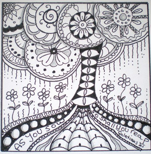 Tree of Life Zentangle