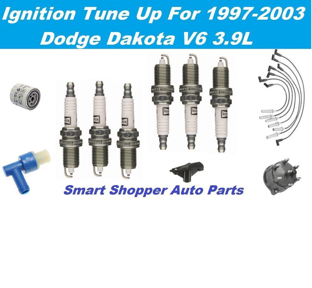 Ignition Tune Up For Dodge Dakota Distributor Cap Rotor Spark Plug ...