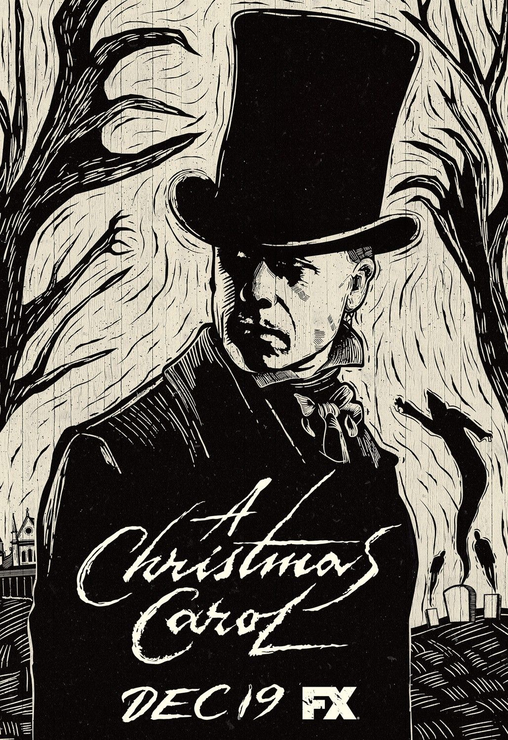 New poster for the new FX miniseries A CHRISTMAS CAROL. | Coral de natal, Guy pearce, Christmas ...