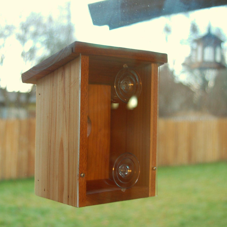 Birdhouse - Window type. See the Bird family. #IfWoodCould #etsyclimbersteam