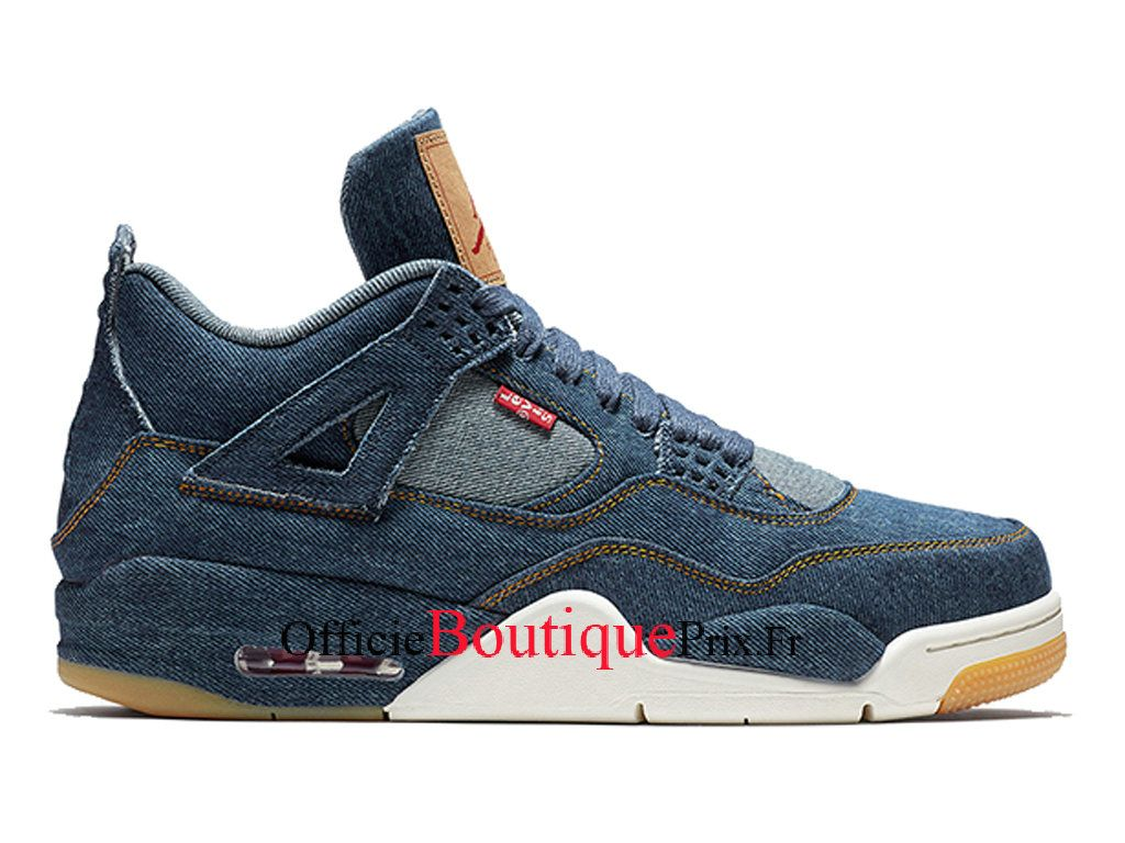 competitive price afa5b 166bd Air Jordan 4 Levis Denim AO2571-401 Chaussure Nike Sneakers Pirx Pour Homme  - AO2571