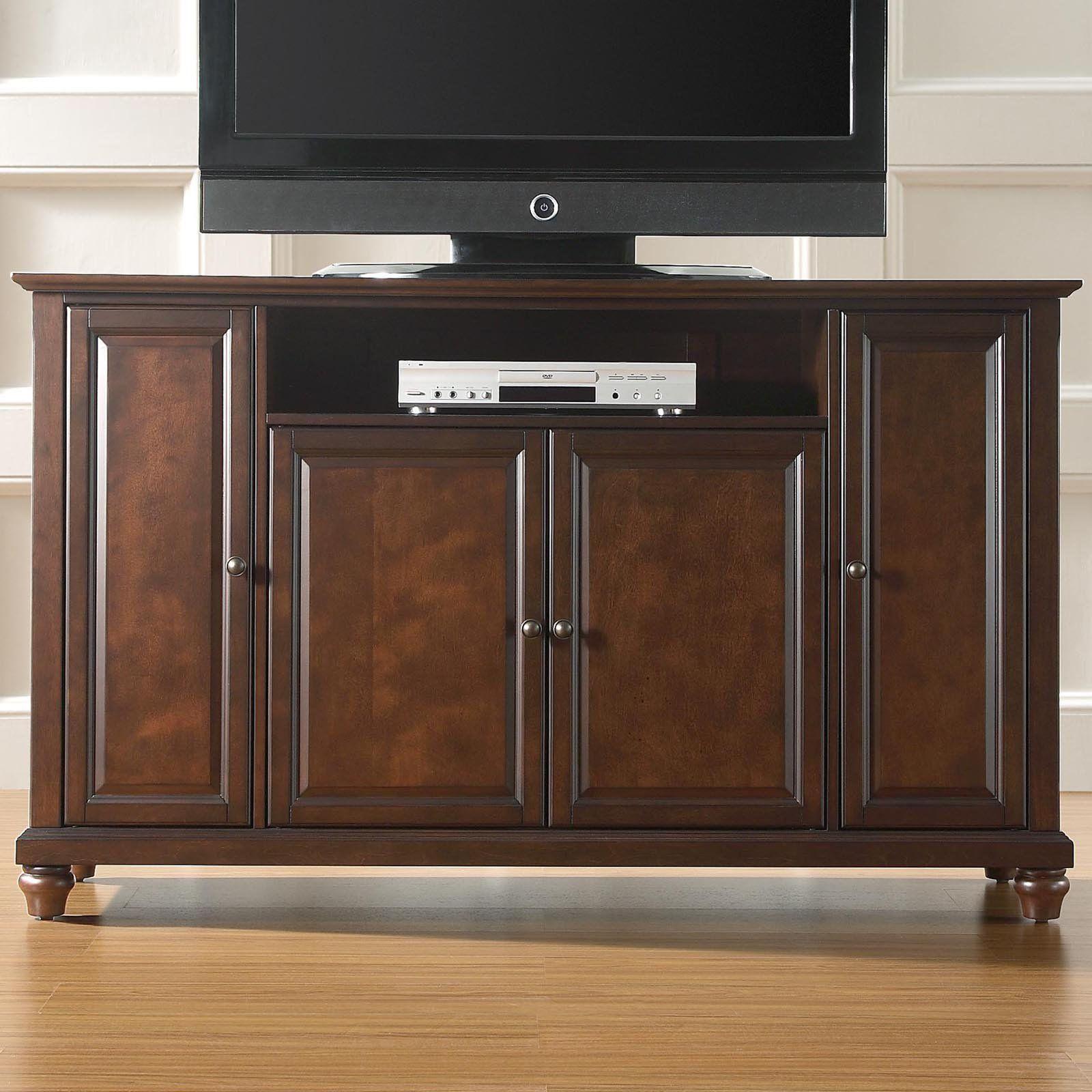 Crosley cambridge 60 in tv stand vintage mahogany