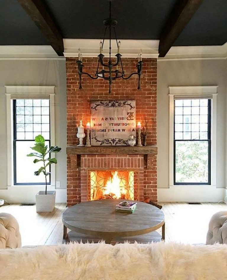 41+ Best Rustic Farmhouse Fireplace Ideas For Your Living