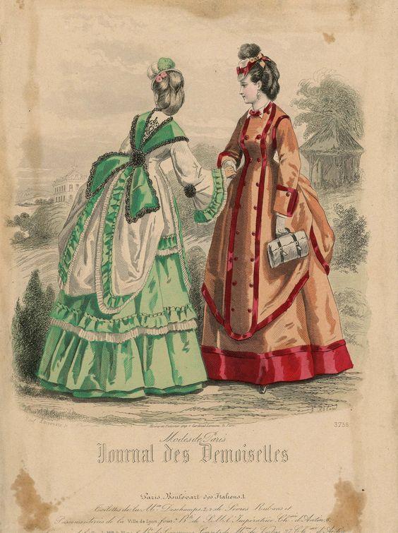 Fashion Plate 1870 France Fashion Plates Victorian Fashion Fashion Illustration Vintage