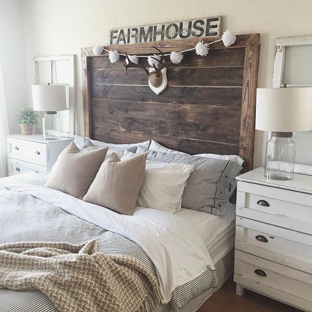 Modern Farmhouse Headboard Ideas