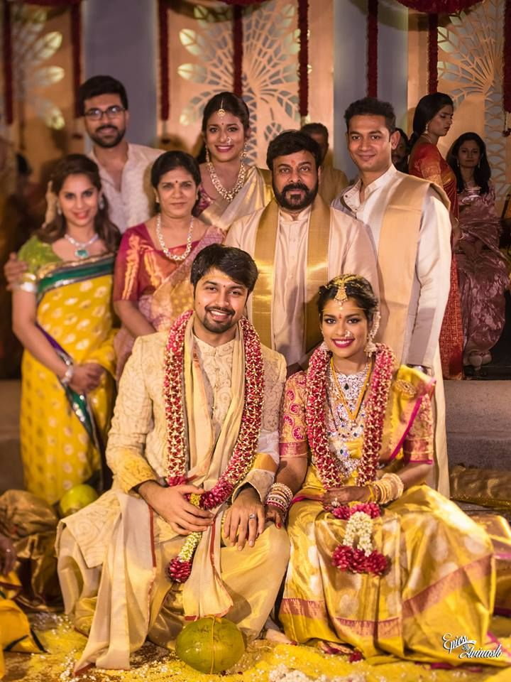 Telugu Mega Star Chiranjeevi S Daughter S Wedding A Photographers Utmost Delight South Indian Bride Wedding Dress Men Indian Bride