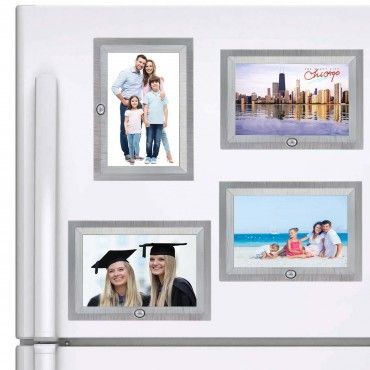 """4pk Hallmark Magnetic Recordable 4"""" x 6"""" Photo Picture Frames 