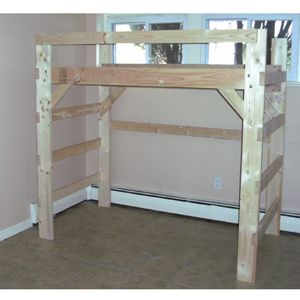 The Manhattan Heavy Duty Solid Wood $198 Loft Bed & Bunk Beds for Home & College, Dorm Furniture - More Than A Furniture Store