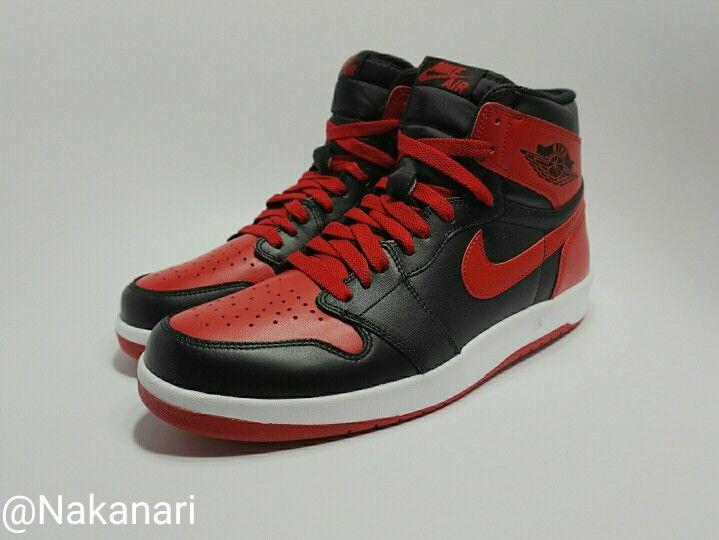 Always love the Air Jordan 1 Bred still happy with the 1.5. #Nakanarilife #jordanbred #solecollector #sneakernews #kickonfire #kicknews #jumpman
