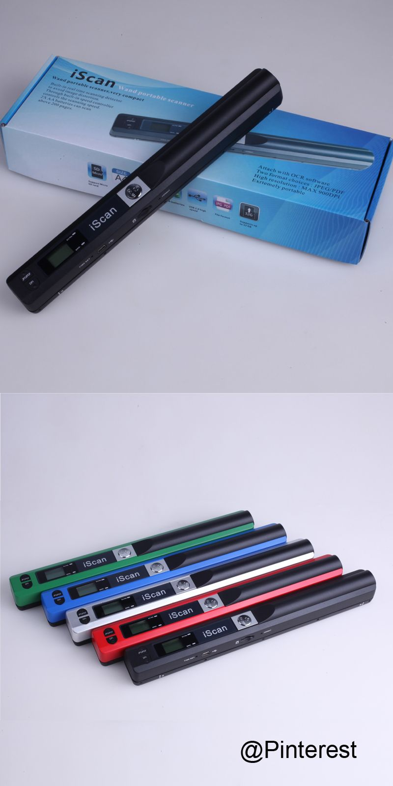 Iscan01 Hd Portable Scanner 900dpi A4 Color Handheld Mini New