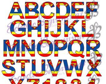 Superman Clip Art Letters - #1 Clip Art & Vector Site •