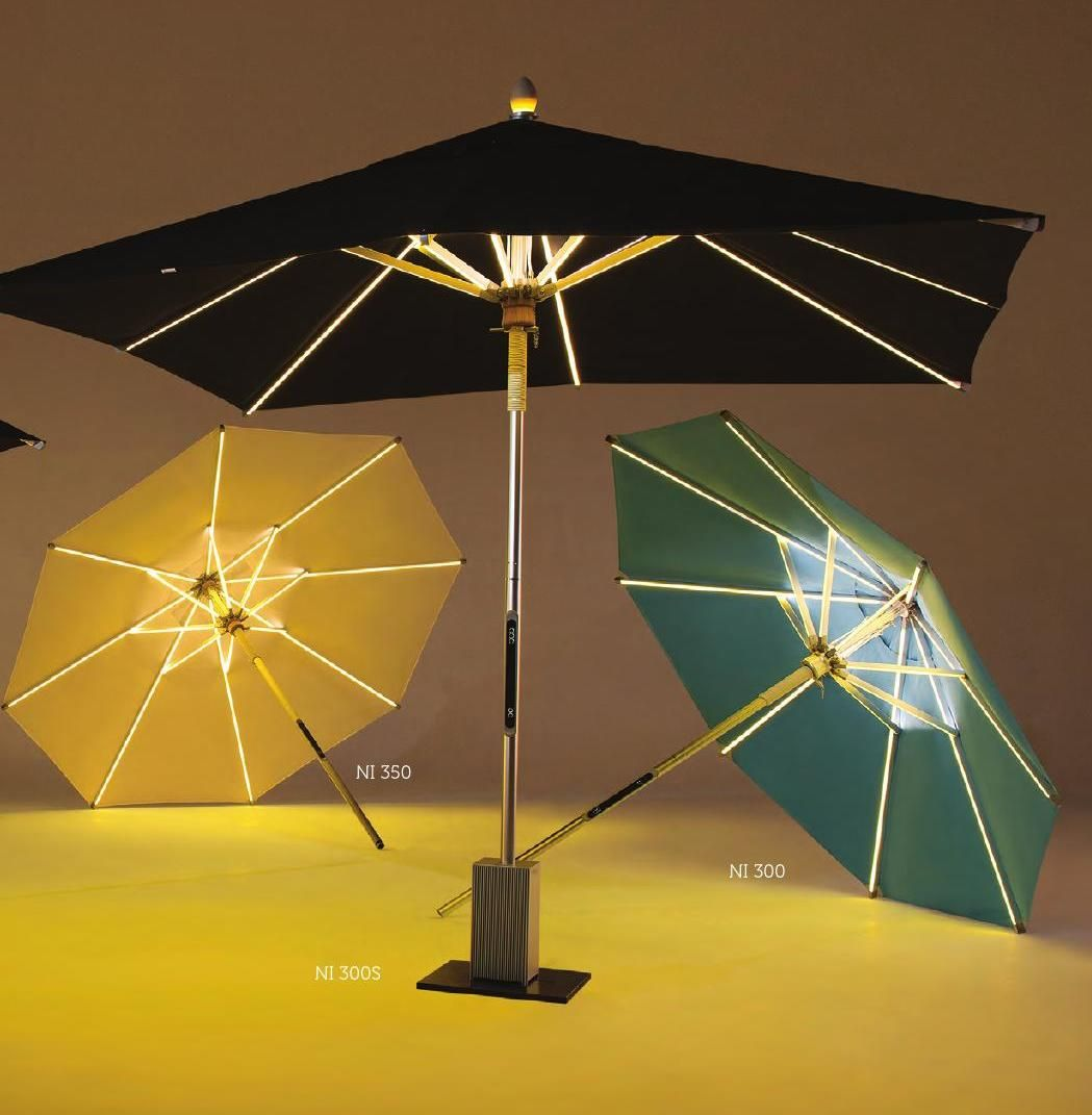 clippedonissuu from ni led parasol 2016 by foxcat design outdoor furniture outdoor living