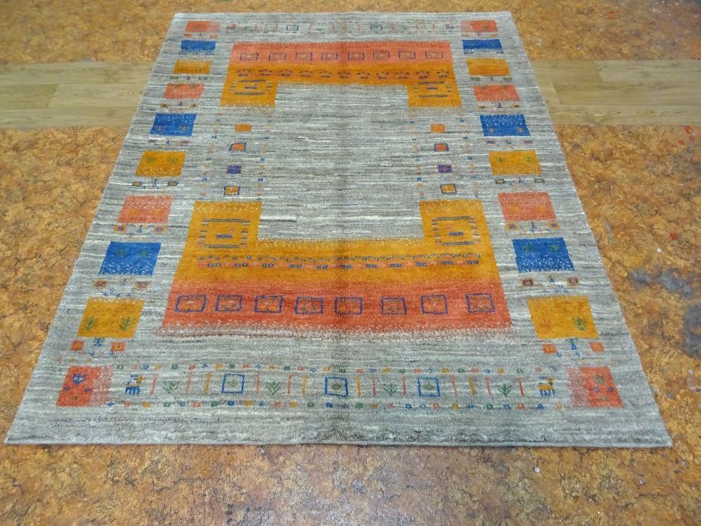 Mint Kashkuli Persian Exquisite Hand Made Qashqaei Gabbeh Rug 5 X 6 4