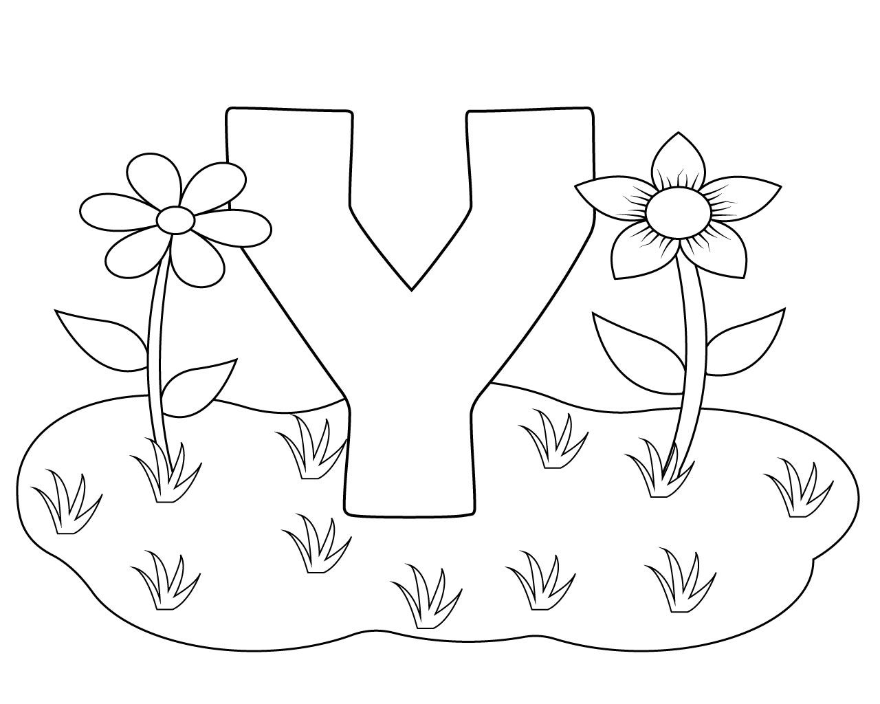 Amazing Letter Y Coloring Pages For Preschoolers Coloring Pages