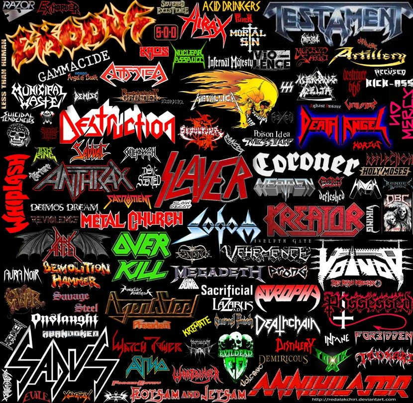 Pin by Erin Ouellette on Art Inspirations | Metal band ... |Thrash Metal Band Logos