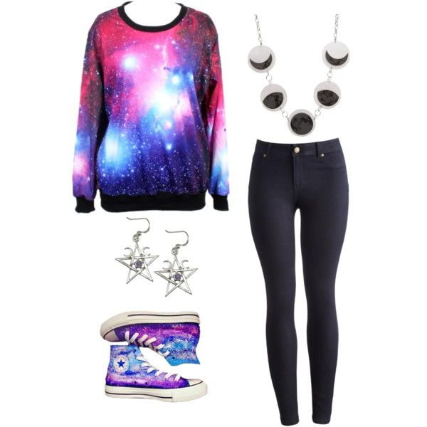 Galaxy Wear by smilelikeyoucan on Polyvore featuring Joules and Converse