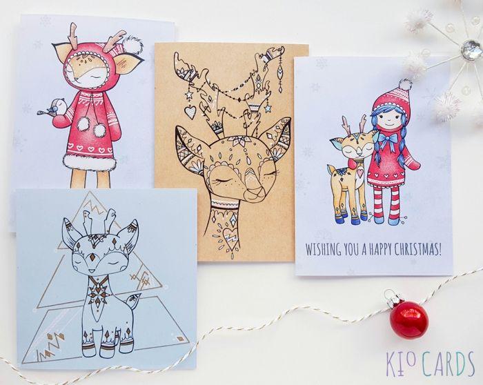 1001 Ideen Zum Thema Weihnachtskarten Basteln Feste