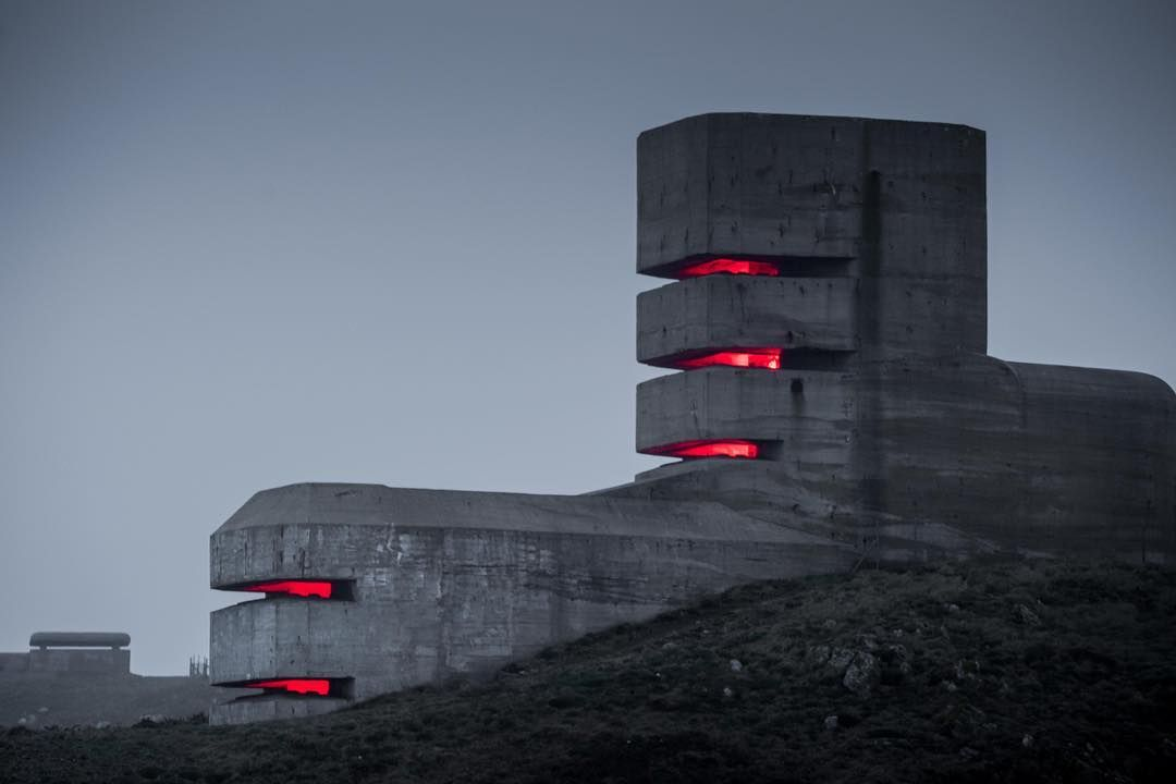 """Architectural Divest on Instagram: """"Pleinmont Observation Tower. A naval observation tower built and used by German forces from 1942 to 1945, as part of their sea defence…"""""""