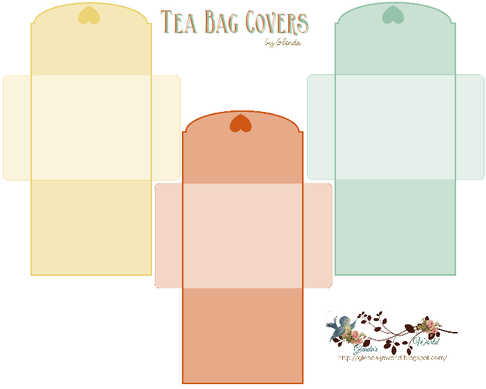 Tea Bag Covers Free Download These Are Cute If Your Putting Together A Gift Basket Tea Diy Diy Tea Bags Tea Bag Favors