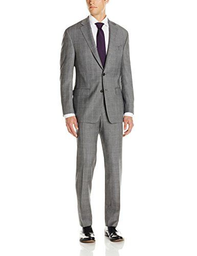 Austin Reed Mens Grey Plaid 2 Button Classic Fit Suit Grey 44 Regular Be Sure To Check Out This Awesome Product Fitted Suit Suits Gray Plaid