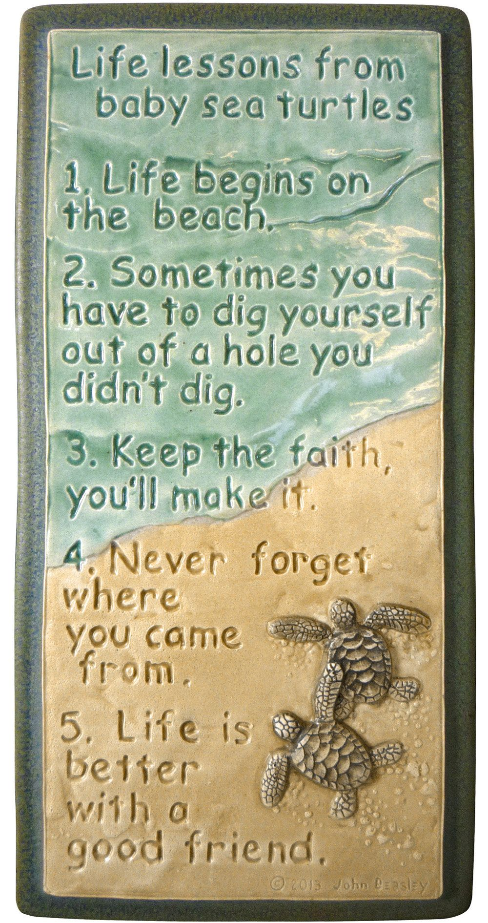 Wall decor, Life Lessons, ceramic tile 4 x 8 inches   An Etsy Board ...