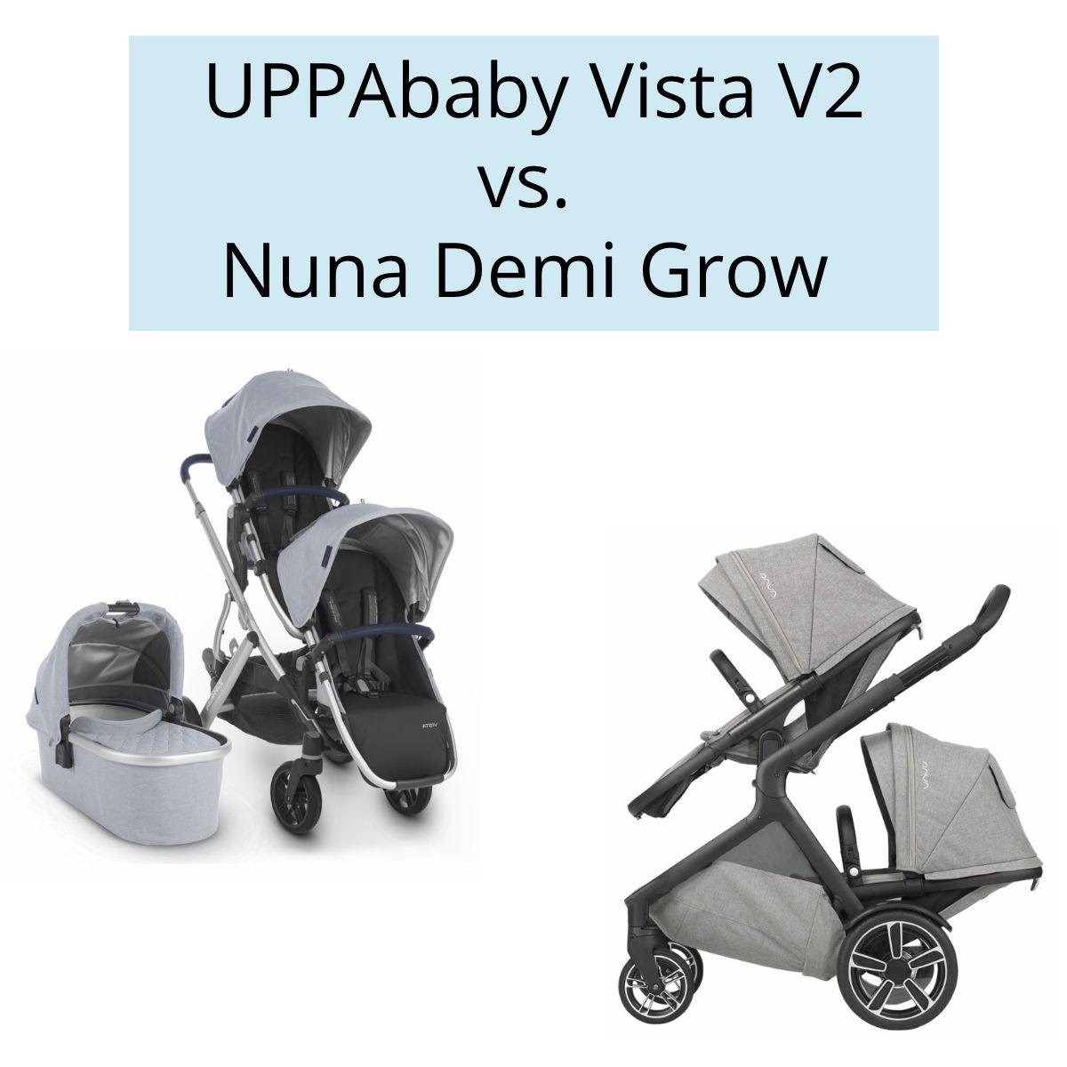Here's a full stroller comparison of the Vista V2 vs. Demi