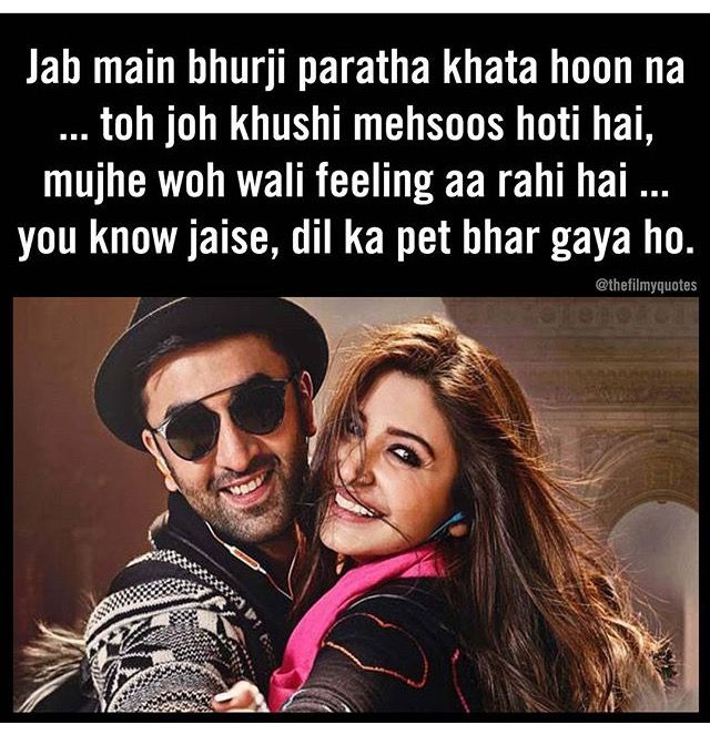 Ae Dil Hai Mushkil Shahrukh Khan Dialogue In English Pin By Palem Kavya On Ae Dil Hai Mushkil Bollywood Quotes Famous Dialogues Filmy Quotes