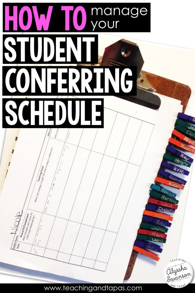 Personal Time Table Format Classy How To Manage Your Student Conferring Schedule  Pinterest  Reading .