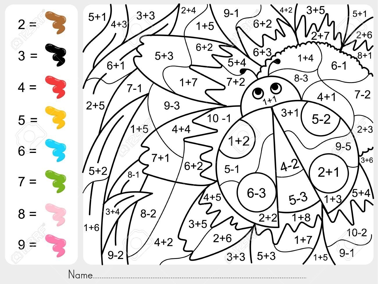 Coloring Addition And Subtraction Worksheets