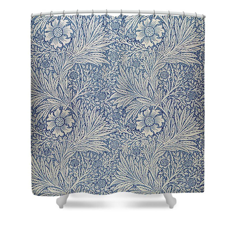 Marigold Wallpaper Design Shower Curtain for Sale by