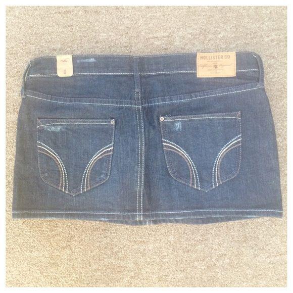 Hollister jean skirt Hollister Jean skirt. Brand new never been worn. Hollister Skirts Mini