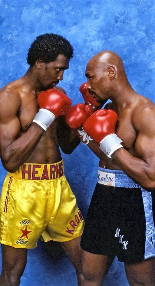 Thomas Hearns And Marvin Hagler Boxing Champions Boxing History Sports Hero