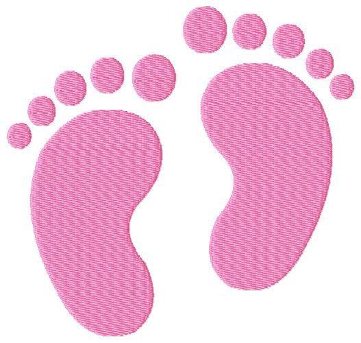 Baby Feet / Footprints Machine Embroidery Design | Stickdateien ...