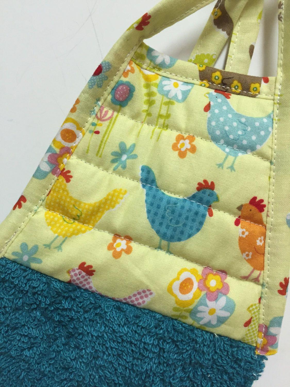 Chicken kitchen towel chicken decor chicken collector