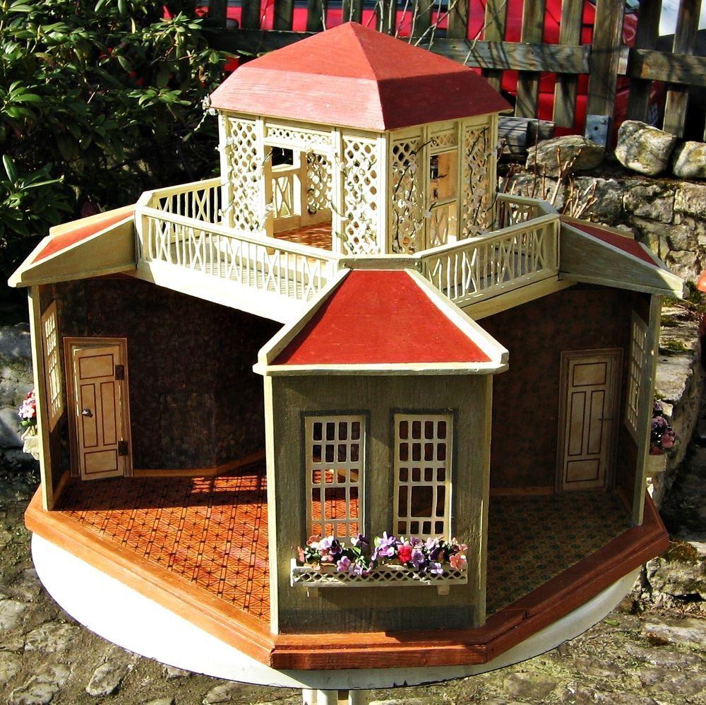 Schönes 4-seitiges Puppenhaus + Pavillon, M. Gottschalk um 1910-15, restauriert   eBay