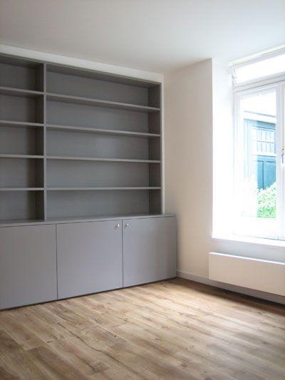 boekenkast over gehele wand appartement | Deco | Pinterest ...